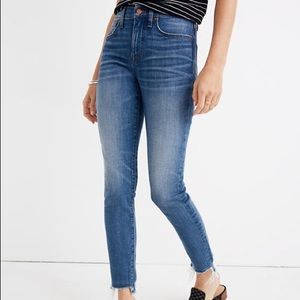 Madewell High Rise Distressed Layered Hem Jeans